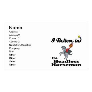 i believe in headless horseman business cards