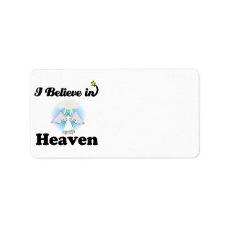 i believe in heaven label