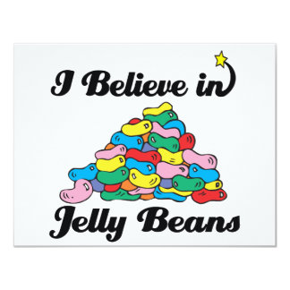 i believe in jelly beans 4.25x5.5 paper invitation card