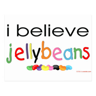 I believe in Jelly Beans Postcard