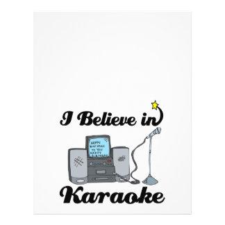i believe in karaoke full color flyer