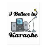 i believe in karaoke post card