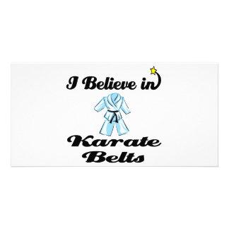 i believe in karate belts customized photo card