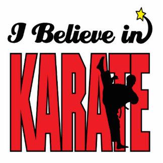 i believe in karate standing photo sculpture