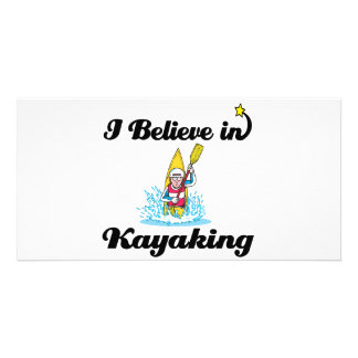 i believe in kayaking photo card