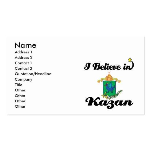 i believe in kazan business card