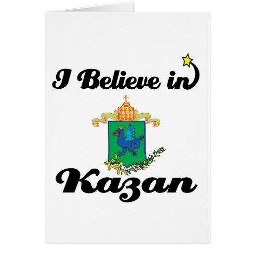 i believe in kazan greeting card