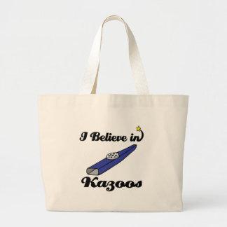 i believe in kazoos jumbo tote bag
