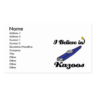 i believe in kazoos Double-Sided standard business cards (Pack of 100)