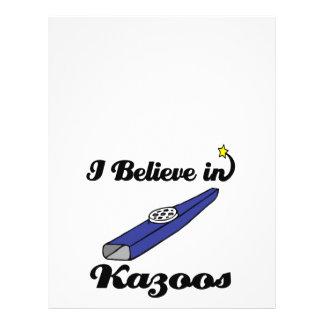 """i believe in kazoos 8.5"""" x 11"""" flyer"""