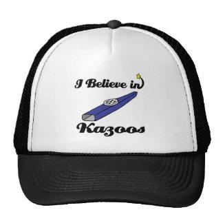 i believe in kazoos trucker hat