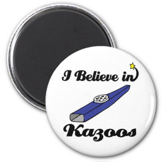 i believe in kazoos 2 inch round magnet