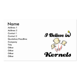 i believe in kernels business card