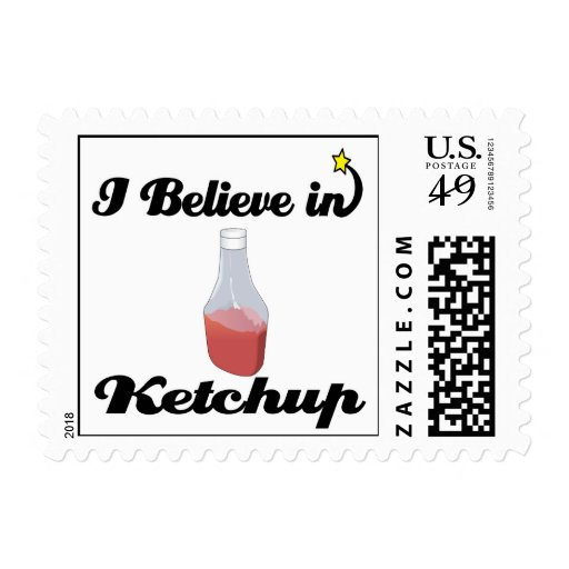 i believe in ketchup postage