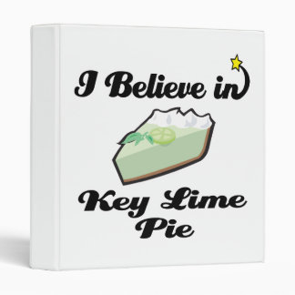 i believe in key lime pie binder