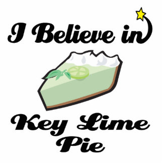 i believe in key lime pie standing photo sculpture