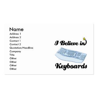 i believe in keyboards business card
