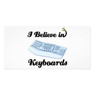 i believe in keyboards custom photo card