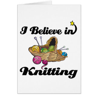 i believe in knitting cards