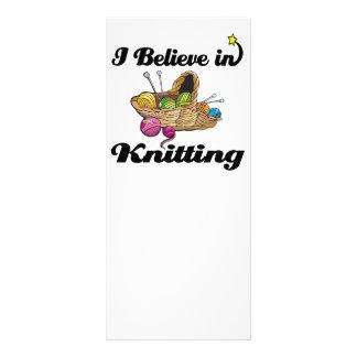 i believe in knitting full color rack card