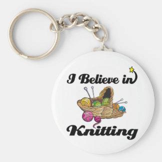 i believe in knitting keychains