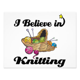 i believe in knitting personalized announcements