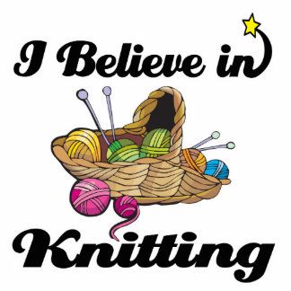 i believe in knitting photo cutouts
