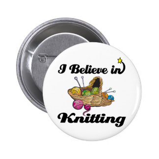 i believe in knitting pin