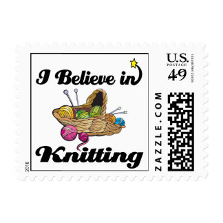 i believe in knitting postage