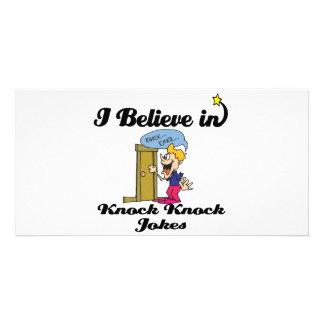 i believe in knock knock jokes card