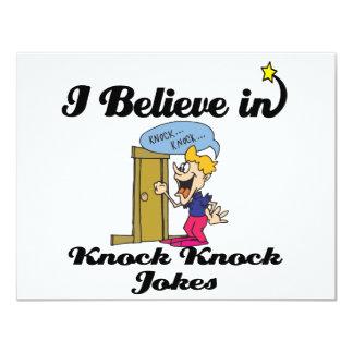 i believe in knock knock jokes announcements