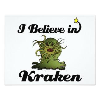 i believe in kraken 4.25x5.5 paper invitation card