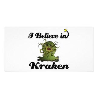 i believe in kraken photo card