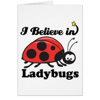 i believe in ladybugs card