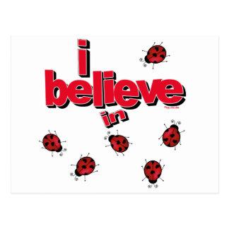 I believe in Ladybugs Postcard