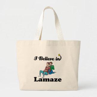 i believe in lamaze tote bag