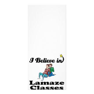 i believe in lamaze classes custom rack card