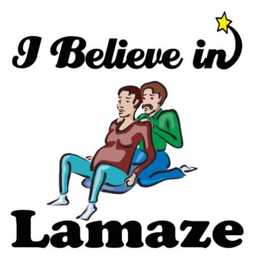 i believe in lamaze acrylic cut outs
