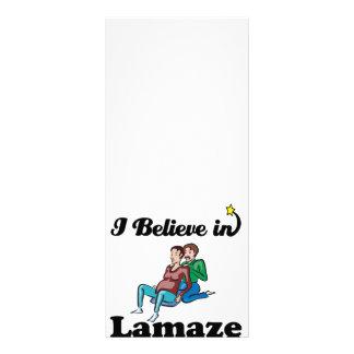 i believe in lamaze customized rack card