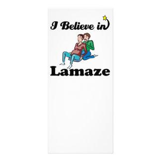 i believe in lamaze personalized rack card