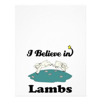 i believe in lambs flyers