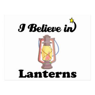 i believe in lanterns postcard