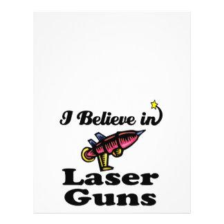 "i believe in laser guns 8.5"" x 11"" flyer"