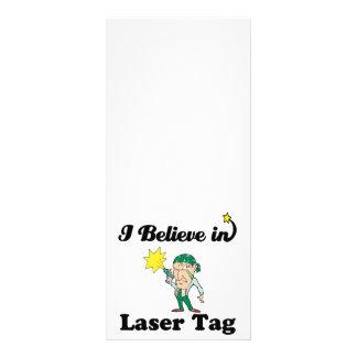 i believe in laser tag custom rack card