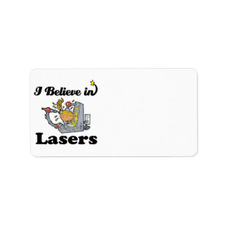 i believe in lasers personalized address labels