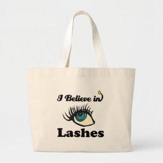 i believe in lashes jumbo tote bag