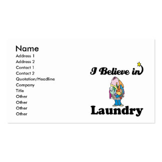 i believe in laundry business card