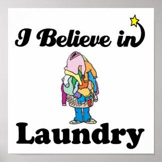 i believe in laundry print