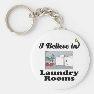 i believe in laundry rooms keychain
