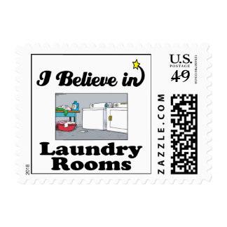 i believe in laundry rooms postage